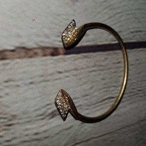 Madewell Pave Brass Arrow Bangle Bracelet